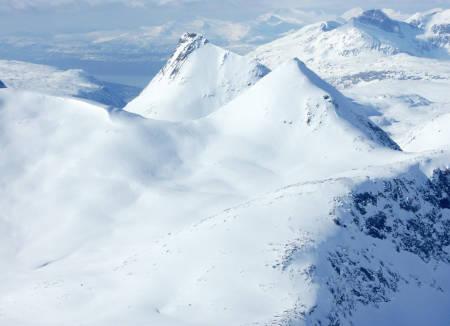 Gahperčohkka fra sørøst. Foto: Rune Dahl / Toppturer rundt Narvik.