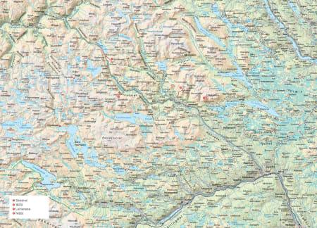 Oversiktskart over Hemsedal. Fra Trygge toppturer