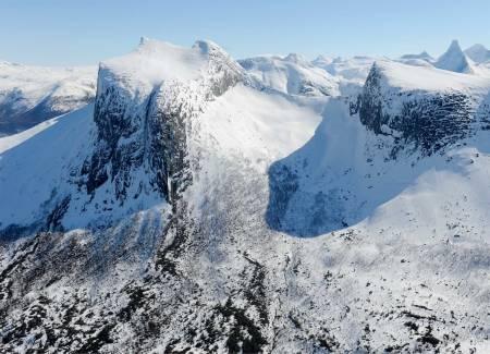 Kulhornet fra vest. Foto: Rune Dahl / Toppturer rundt Narvik.