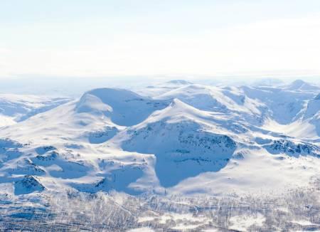 Melkefjellet fra nord. Foto: Rune Dahl / Toppturer rundt Narvik.