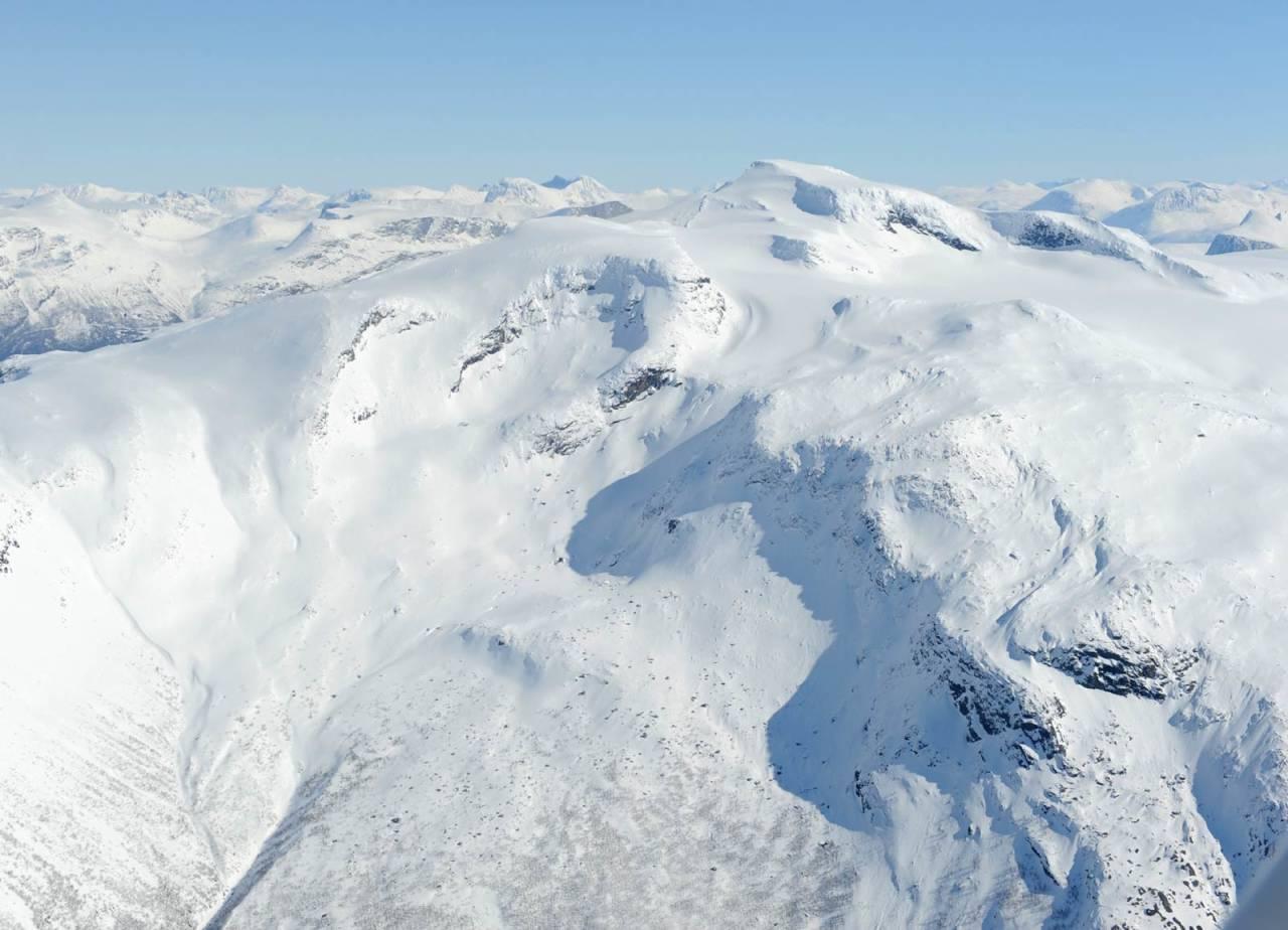 Frostisen fra vest. Foto: Rune Dahl / Toppturer rundt Narvik.