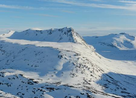 Ristačohkka fra nordøst. Foto: Rune Dahl / Toppturer rundt Narvik.
