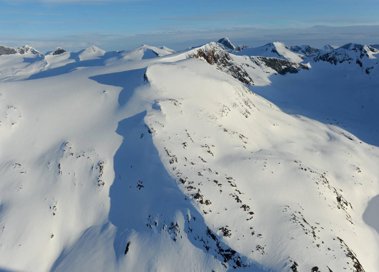 Sealggačohkka fra nord. Foto: Rune Dahl / Toppturer rundt Narvik.