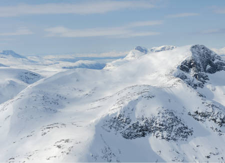 Sildviktinden fra øst. Foto: Rune Dahl / Toppturer rundt Narvik.