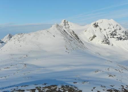 Storfjellet fra nordvest. Foto: Rune Dahl / Toppturer rundt Narvik