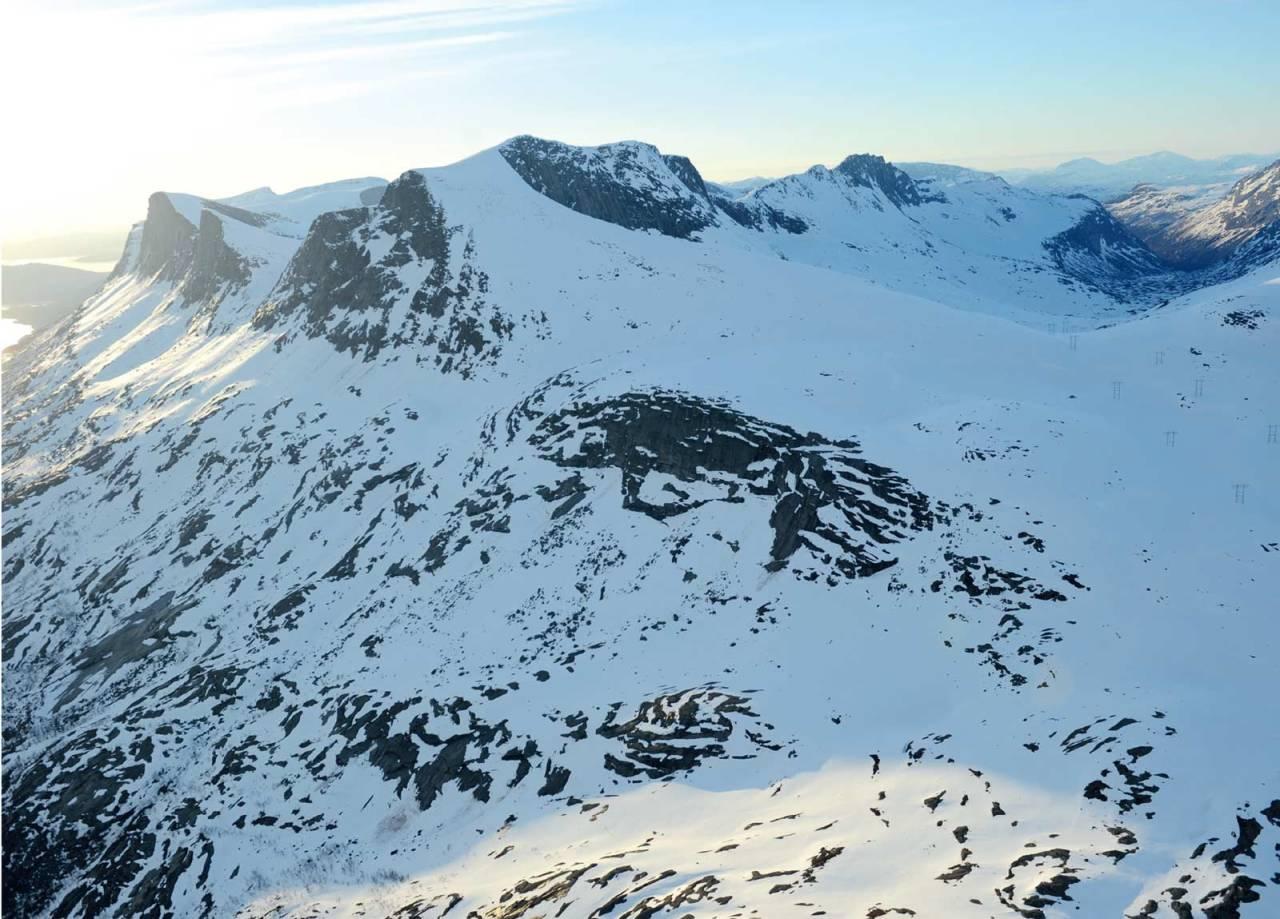 Suorječohkka fra sør. Foto: Rune Dahl / Toppturer rundt Narvik.