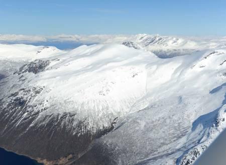 Tverrfjellet fra sørvest. Foto: Rune Dahl / Toppturer rundt Narvik.