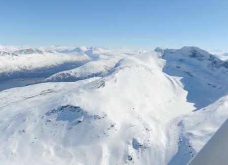 Reintind fra nordvest. Foto: Rune Dahl / Toppturer rundt Narvik.