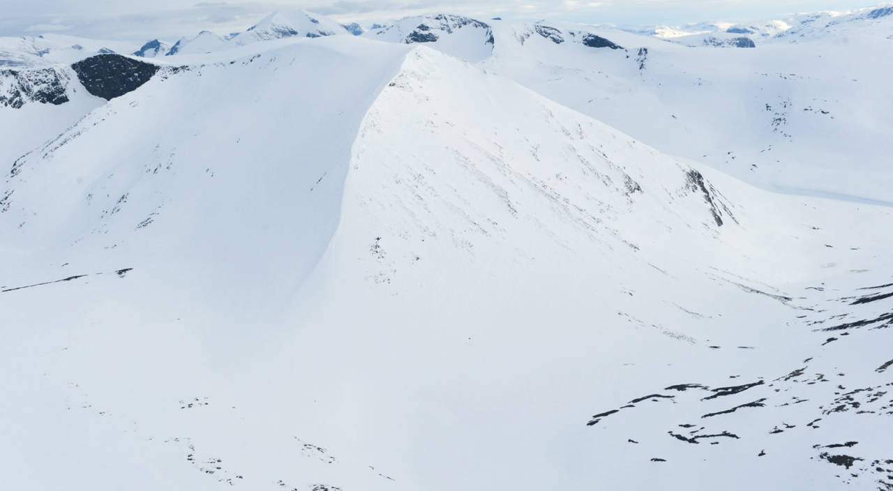 Ballinbogičohkka fra nordøst. Foto: Rune Dahl / Toppturer rundt Narvik.