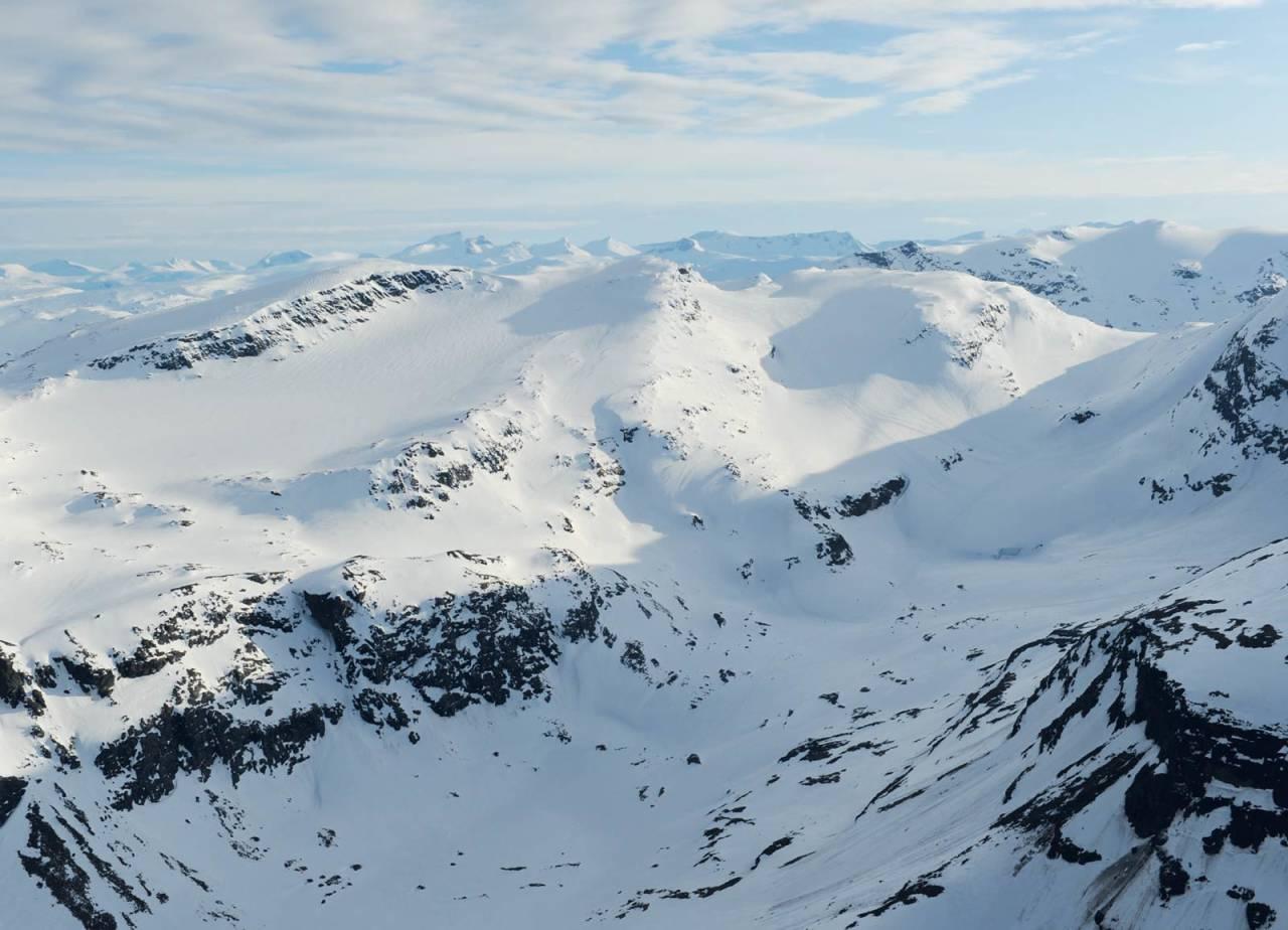 Gorsačohkka fra nord. Foto: Rune Dahl / Toppturer rundt Narvik.