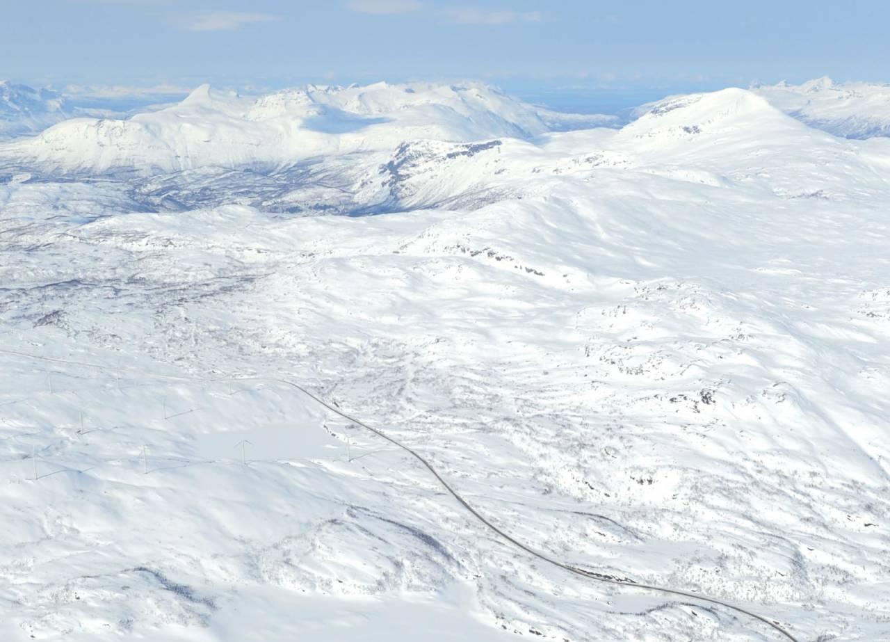 Kopparfjellet fra sørøst. Foto: Rune Dahl / Toppturer rundt Narvik.