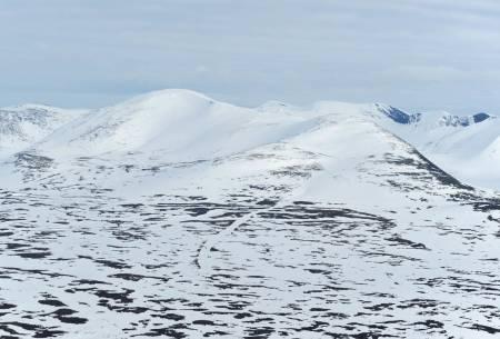 Pallentjåkka från nordøst. Foto: Rune Dahl / Toppturer rundt Narvik.