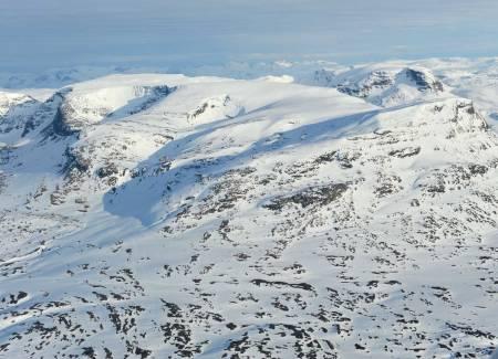 Vassečohkka-massivet fra nord. Foto: Rune Dahl / Toppturer rundt Narvik.