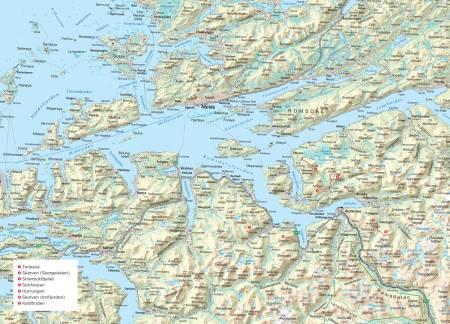 Oversikts kart over Romsdalen. Fra Trygge toppturer