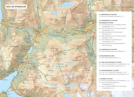 Oversiktskart over Skrei og Stardalen. Frå Toppturar i Sunnfjord.