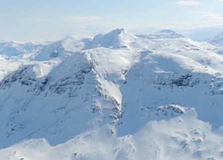 Stortinden fra nordvest. Foto: Rune Dahl / Toppturer rundt Narvik.