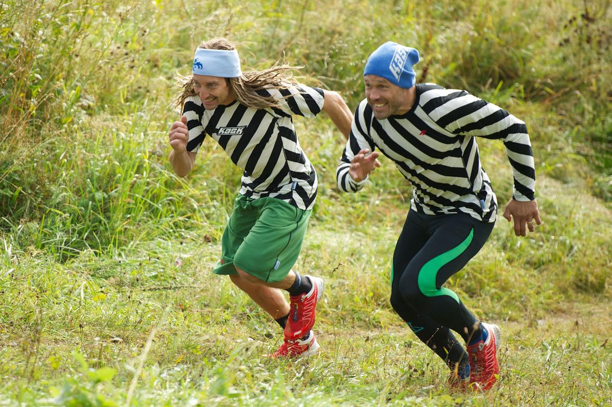 LØP: Kaj Zackrisson og Sverre Liliequist sitt sitse tips til frikjøringstrim om høsten er løping. Foto: Johan Wildhagen