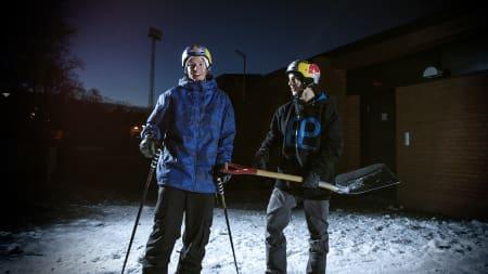 DREAMTEAM: Det er bare å glede seg. Disse to gutta står for underholdningen annenhver mandag fremover. Bilde: Anders Neuman