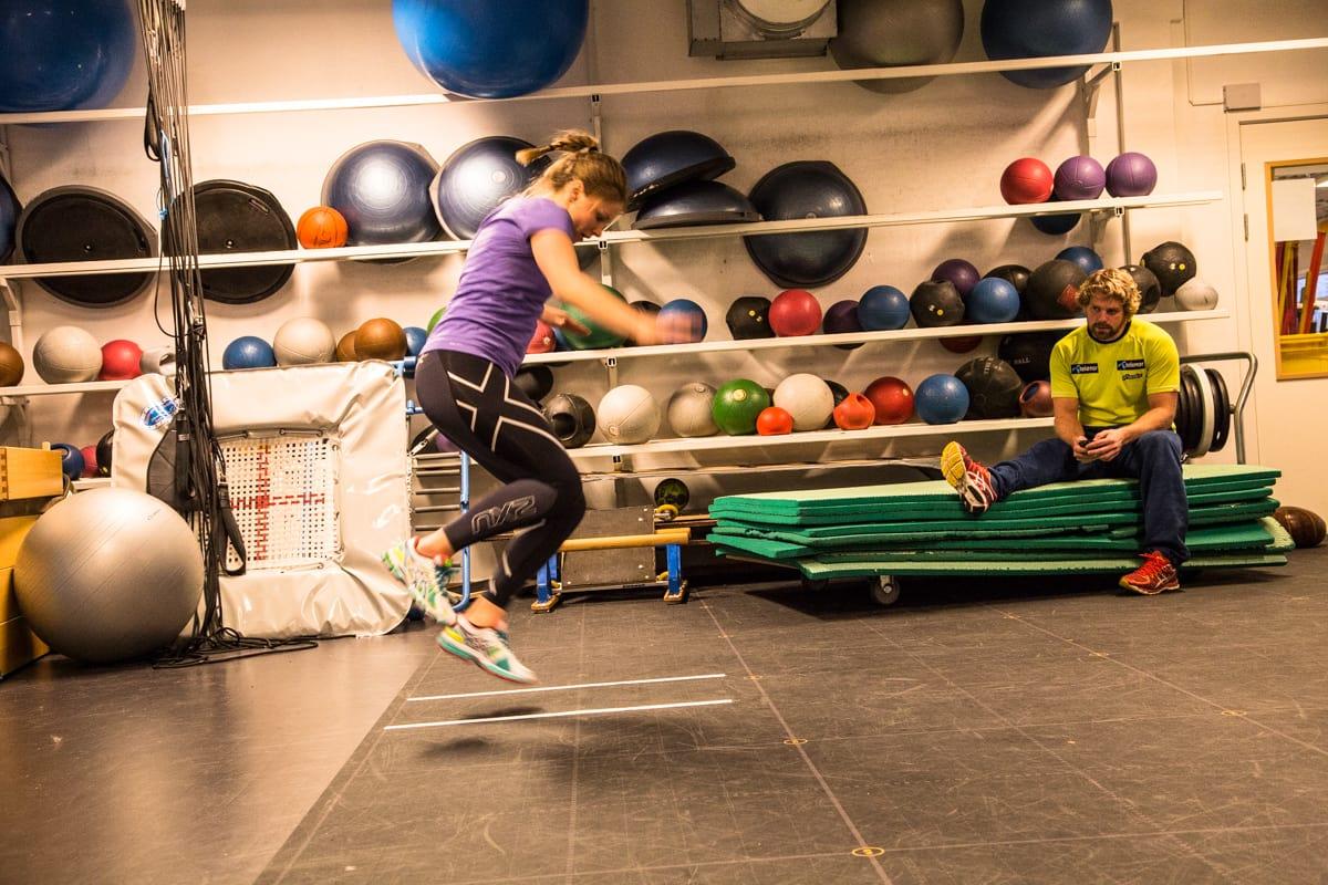 FORBEDRING PÅ ALLE PUNKTER: Testene Tiril Sjåstad Christiansen har gjort på Olympiatoppen viser fremgang på alle punkter. Bilde: Christian Nerdrum