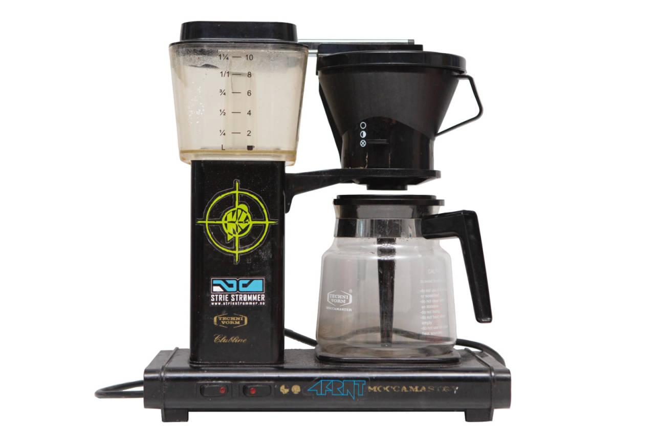 STARTHJELP: Kaffe er fantastisk godt – særlig i forbindelse med skisport – og kaffe brygges best med en slik en. Bilde: Tore Meirik