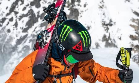 NY DUKE MED TECH: Her er Kye Peterson med nye Duke PT. Den alpine delen av frambindingen kan tas av, og fram kommer en pinnebinding du kan gå med. Foto: Marker