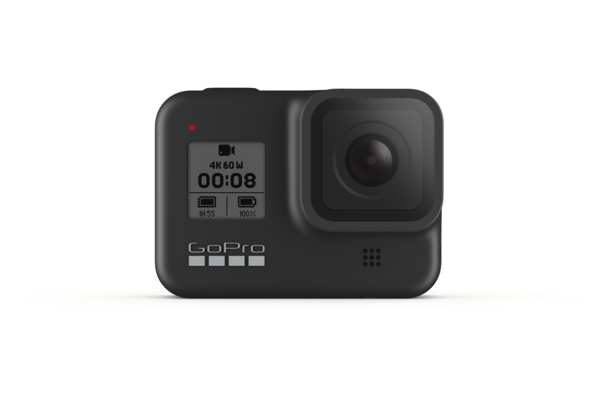 NYTT KAMERA: GoPro Hero 8 Black lanseres nå. Foto: GoPro