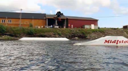 Norgeseliten var samlet på Furrebanen. Foto: Arendal Wakeboardklubb