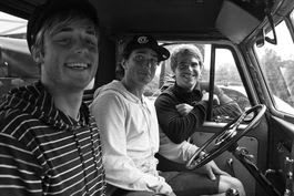 LOCALS ONLY: Petter Johnsen, Remi Meum og Andé Natland oppsummerer Surf City. Bilde: C. Nerdrum