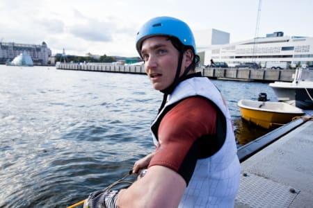 URBAN WAKE: Remi Meum fikk seg noen dager utenfor operaen under Oslo Water Games. Foto: Christian Nerdrum
