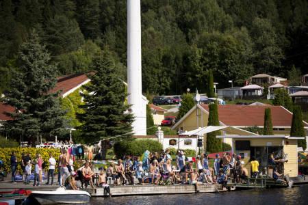 Akrivfoto: Jentene inntar Norsjø Kabelpark 12. juni