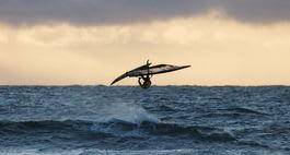 Tønsbergsurfer Sigurd Espeland sikret tredjeplassen i Jæren Wave. Bilde: Pål Rype