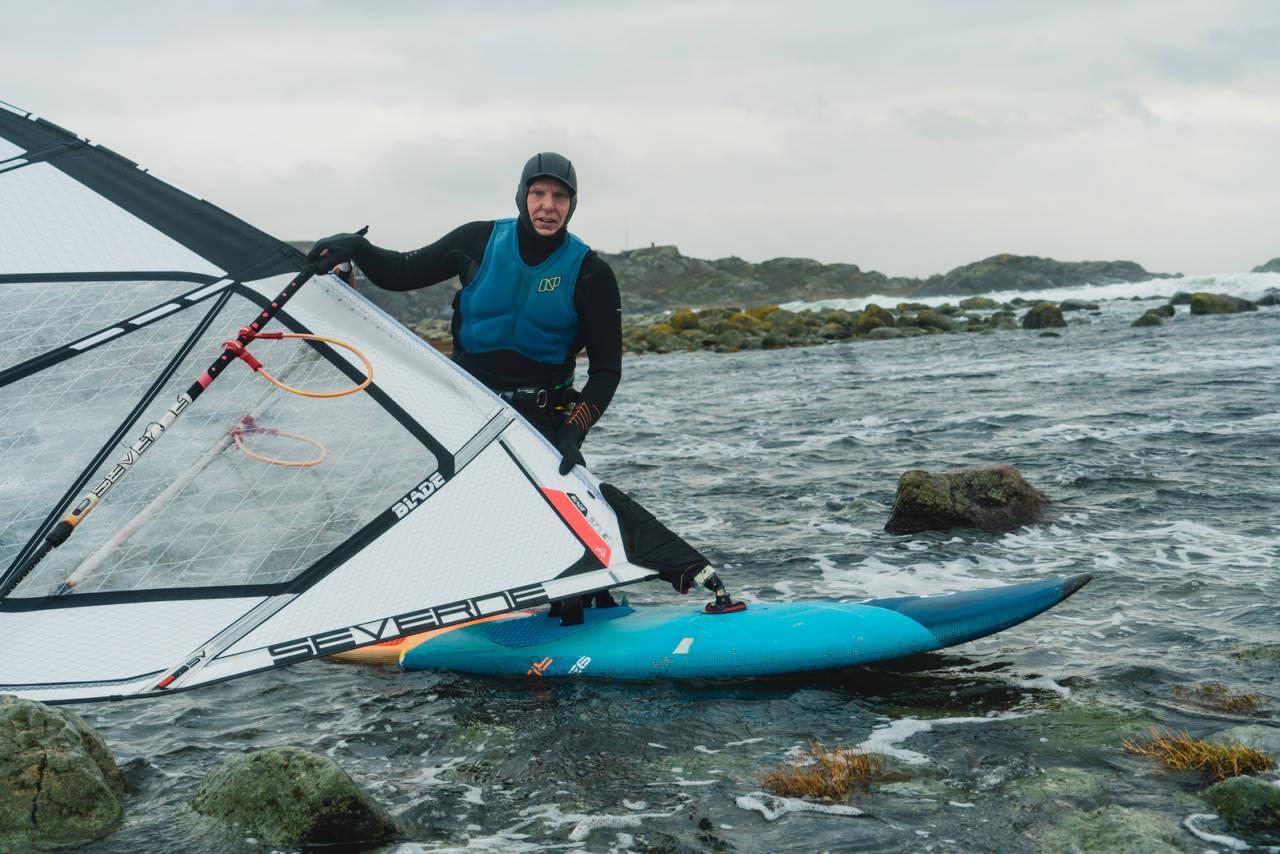 Olav Bleivik Saltstein windsurfer