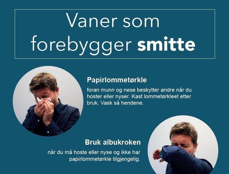 Hygieneplakat fra Folkehelseinstituttet