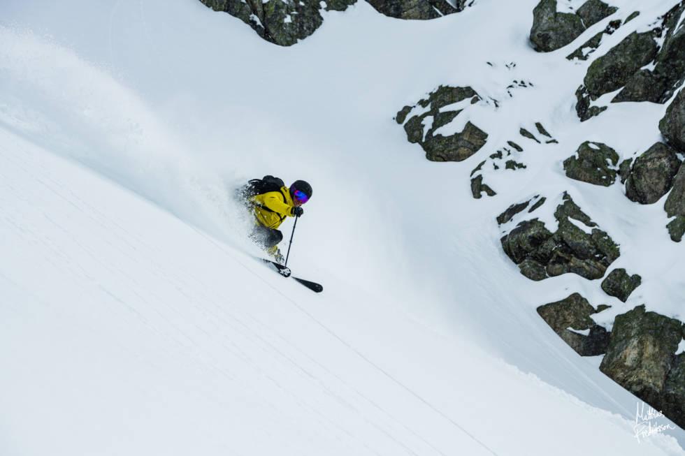 Lær deg å gå på topptur for å finne den beste og tryggeste snøen. Foto: Mattias Fredriksson
