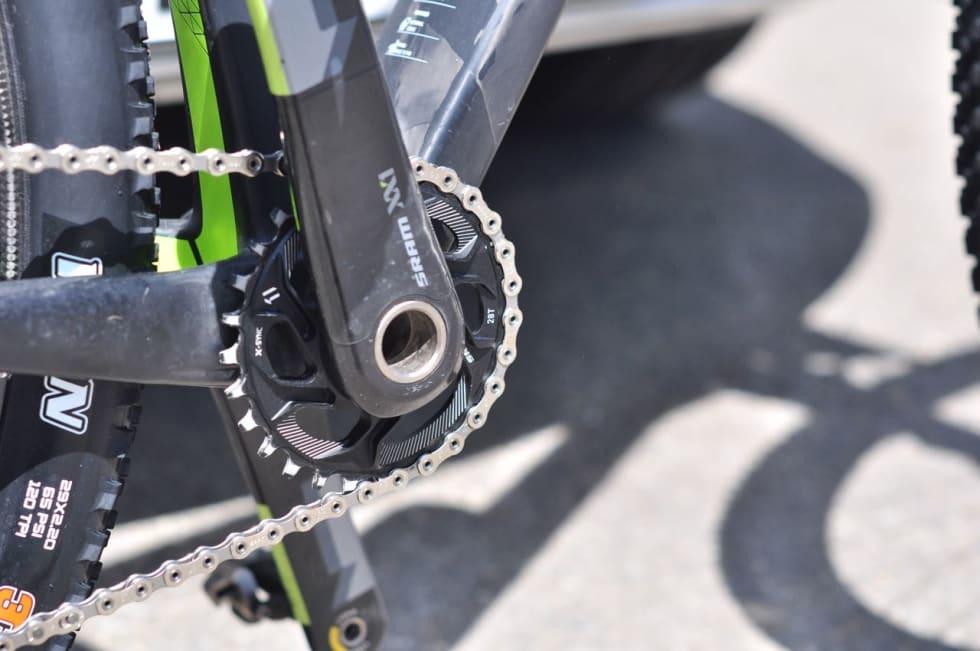 LETT: Gunn-Rita sykler med 28-tenners krankdrev og 10-42-kassett i Albstadt.