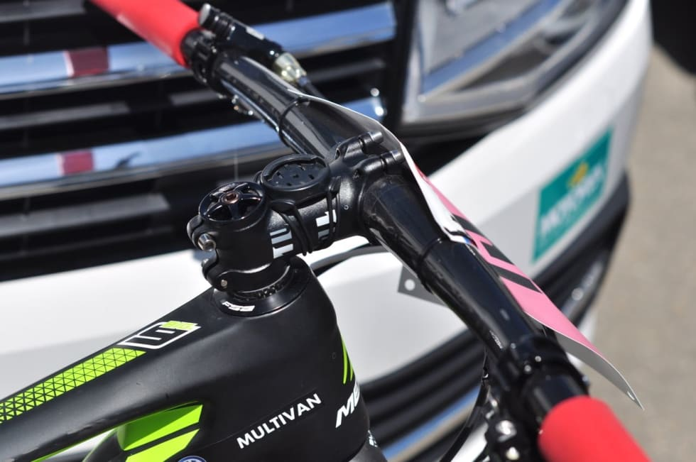 KORT STEM: 70 mm stem pekende oppover er nytt for året på Gunn-Ritas sykkel.