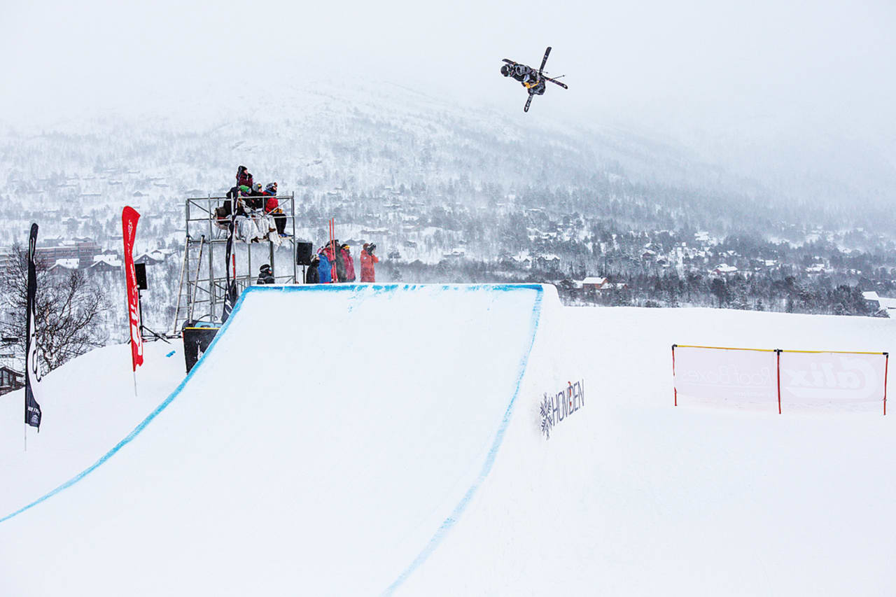 VIKTIG SEIER: Klaus Finne vant big air-rennet på Hovden etter nyttår, noe som ga billett til X Games Oslo. Foto: Andreas Fausko