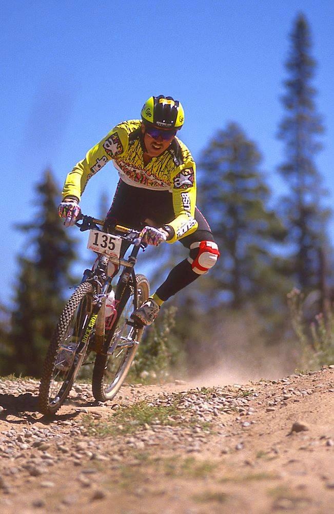 UTFORSØLV: Mike Kloser tok sølv i utforrittet i Purgatory. USA tok sin eneste trippelseier i terrengsykkelhistorien.