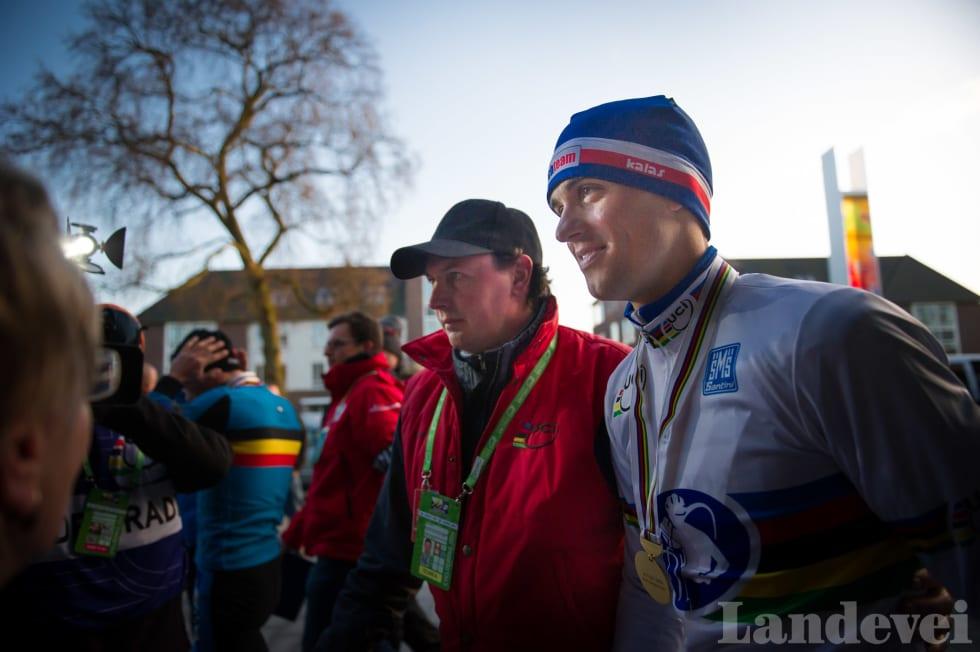 KONGEN: Zdenek Stybar i ført trykkfersk VM-trøye anno 2014.