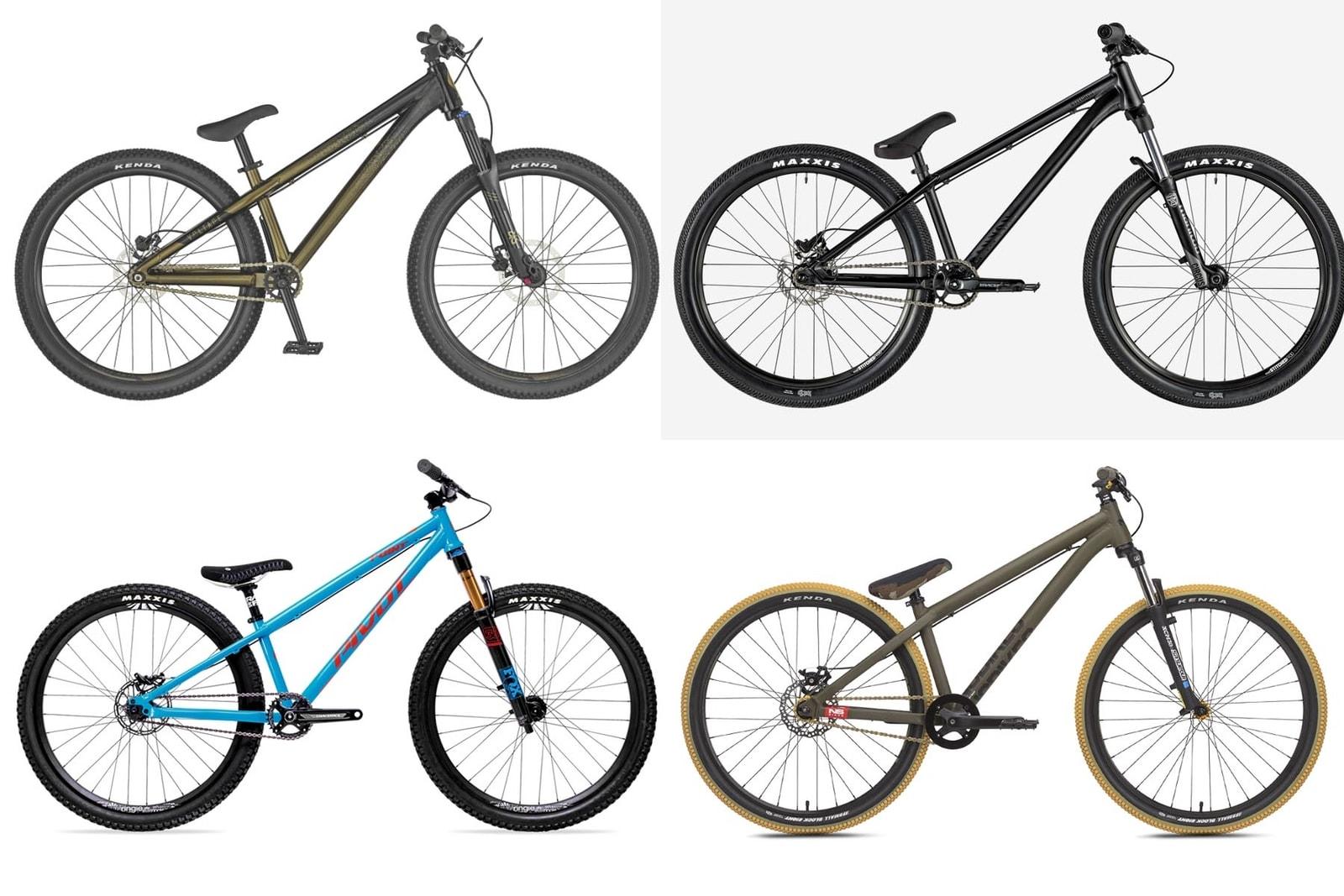 IDEELT: Du kan bruke nær sagt alle typer sykler i en pumptrack, men en dirtsykkel er spesielt godt egnet. Fotomontasje: Redaksjonen.