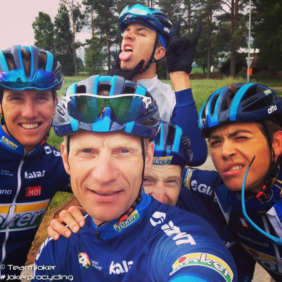OMSVERMET: Frank Mo er soigneur i Joker Byggtorget, og vant med å gjete syklister. Foto: Selfie.