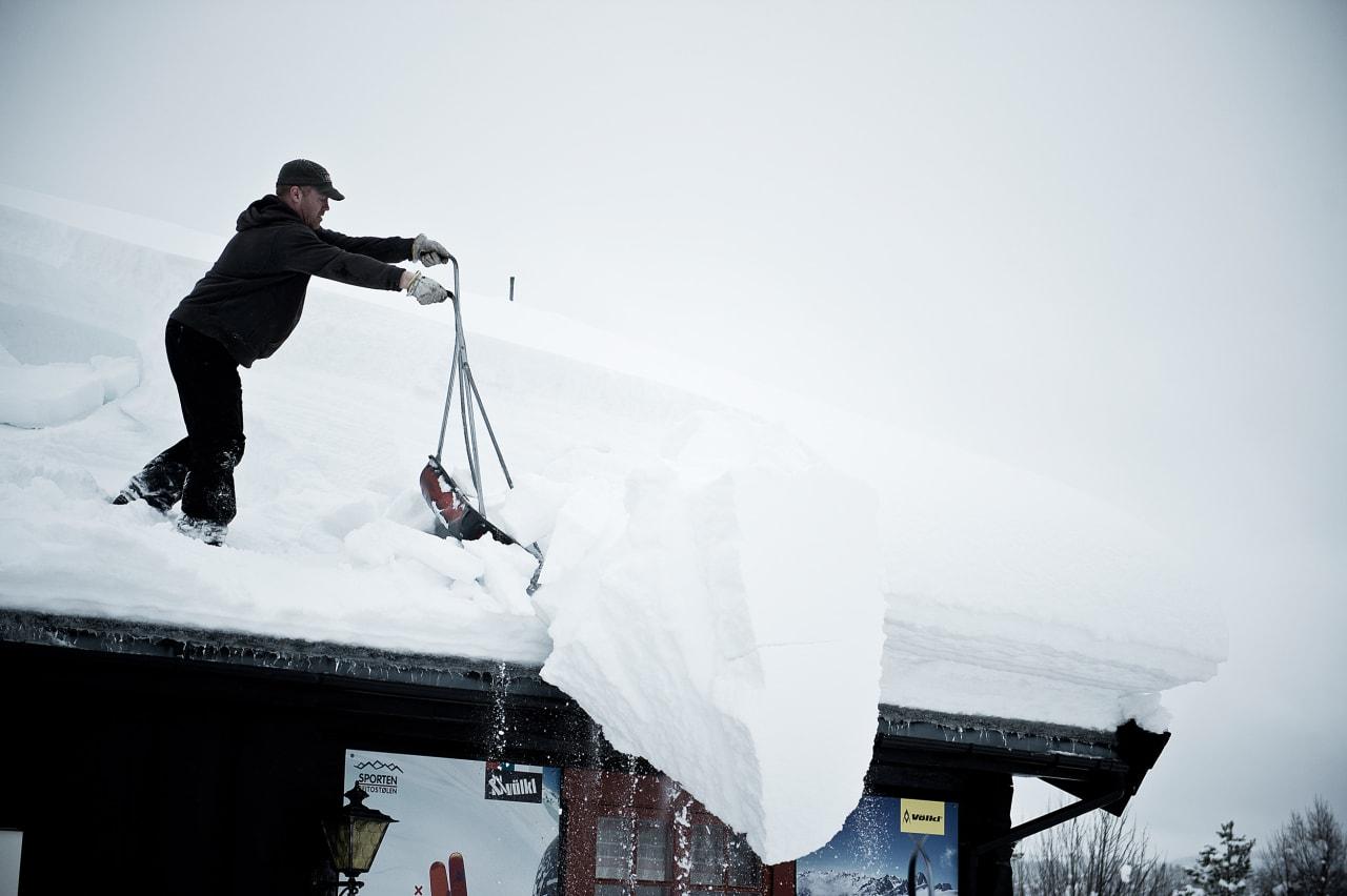 SNØHULL: Det snør ofte godt i Raudalen. Foto: Vegard Breie