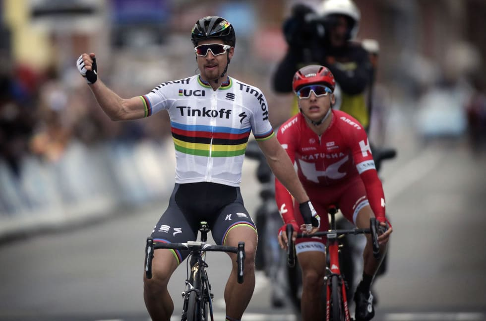 Cancellara - Sep van Marcke - Gent Wetvelgem 2016 - Cor Vos 1400x924