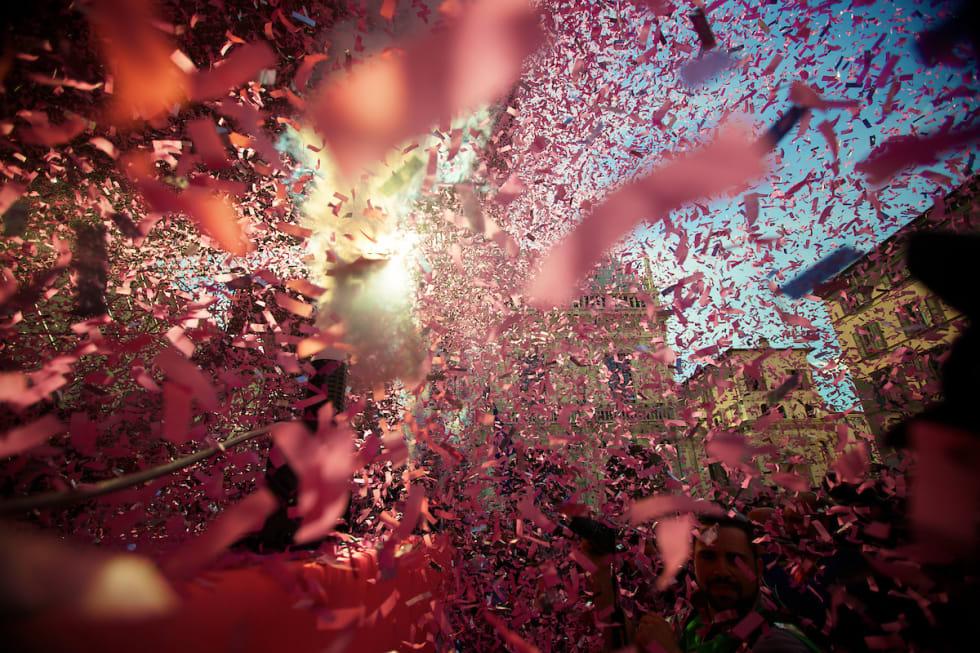 ROSA - ROSA! Alt er rosa når det er Giro d'Italia! Foto: Kristof Ramon.