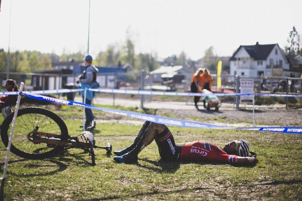 LANG DAG: Det måtte nesten i underkant av to timer til med hard innsats for å fullføre for Petter Fagerhaug.