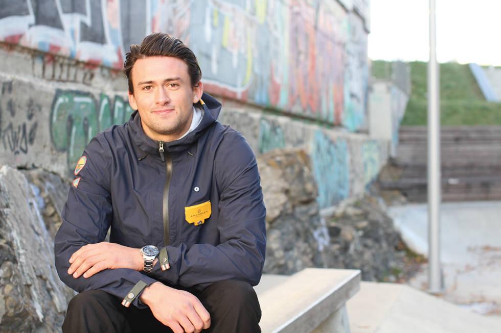 I AVHØR: Benjamin Forthun har vært i avhør hos politiet etter steinrullingen. Bildet tatt i forbindelse med et portrett av Forthun som du kan lese i Fri Flyts Vinterekstra. Foto: Anders Holtet