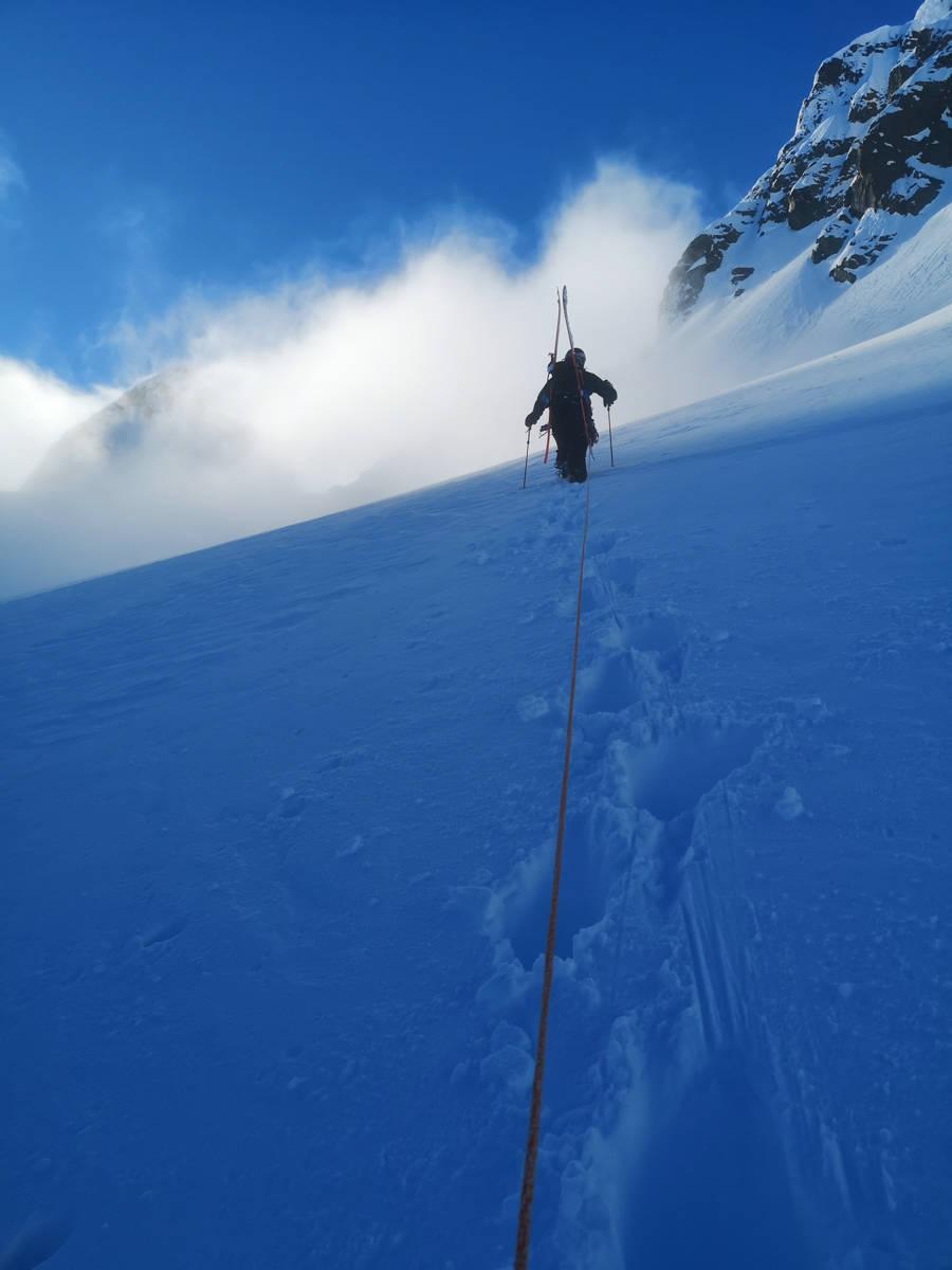 Taulag på vei opp fjellet
