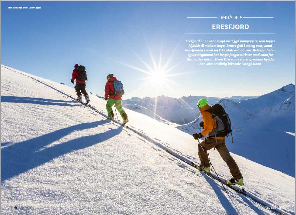 NYTT OMRÅDE: Eresfjord er blant de nye områdene som beskrives i boka.
