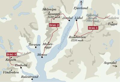 Kart-Sognefjordruta