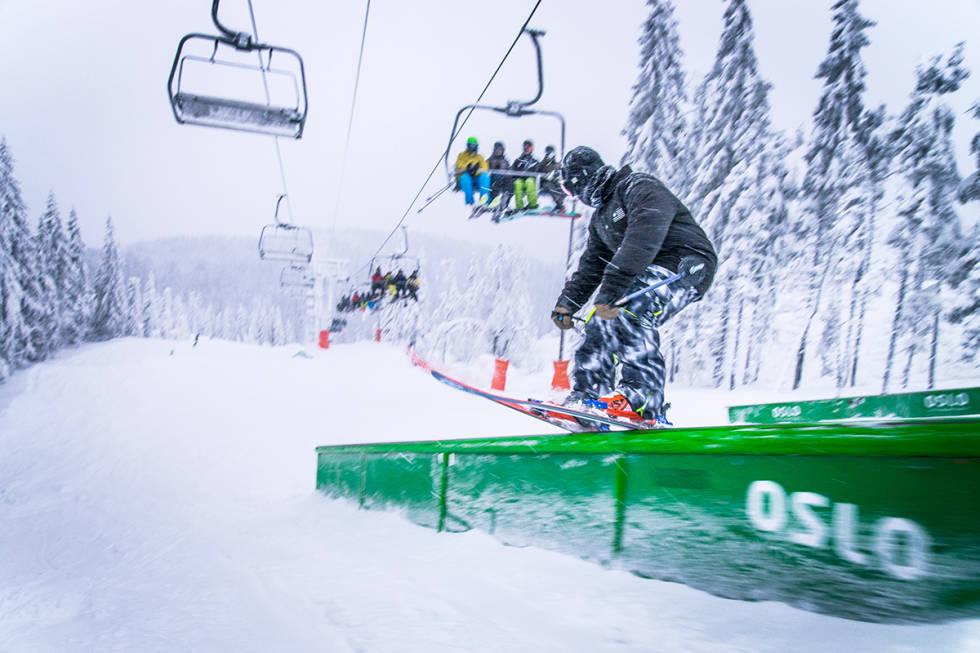 PARK: Oslo Vinterpark har en av landets beste parker. Her er Lars Tysnes i parken i 2016. Foto: Kyle Meyr